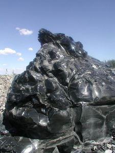 Obsidian outcrop