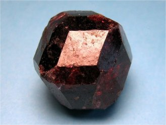 Almandine garnet's dodecahedral shape