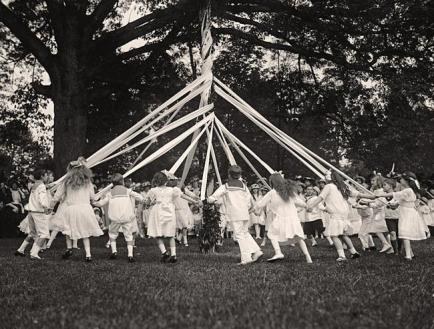 19th-century Maypole Dance