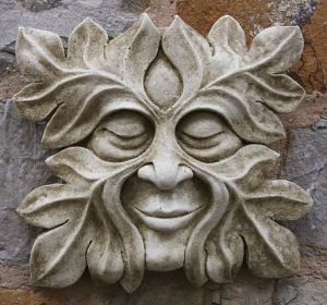 Green Man carving