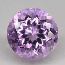 Faceted pale violet Brazilian amethyst