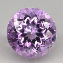 Faceted pale violet Brazilian amethyst
